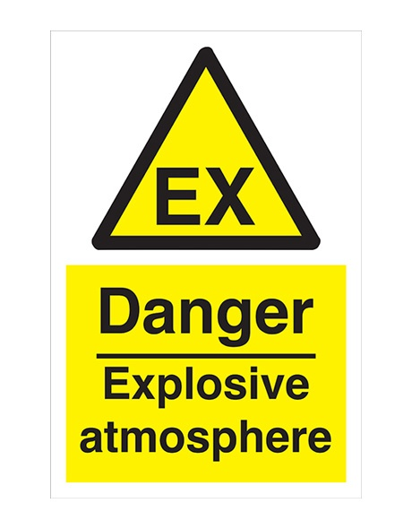 Buy Danger Explosive Atmosphere Labels   Danger & Warning